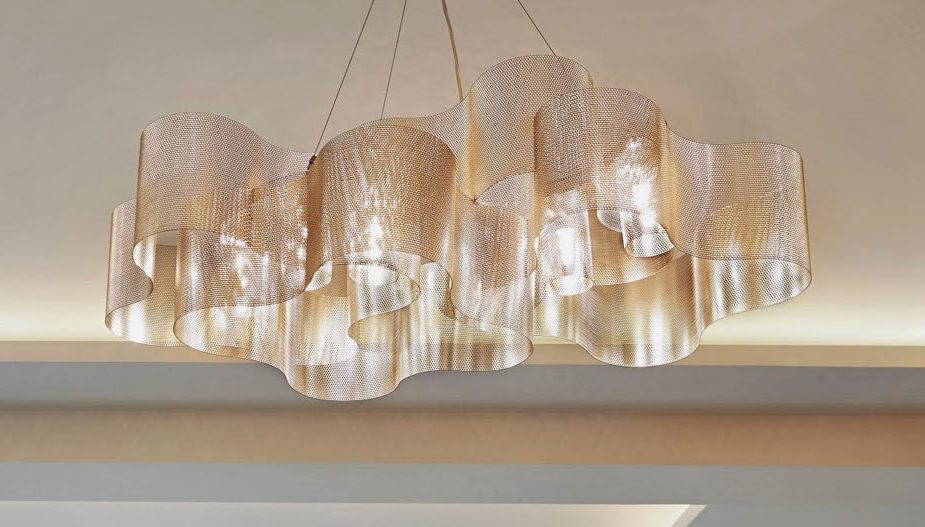 Luxury chain mail chandeliers