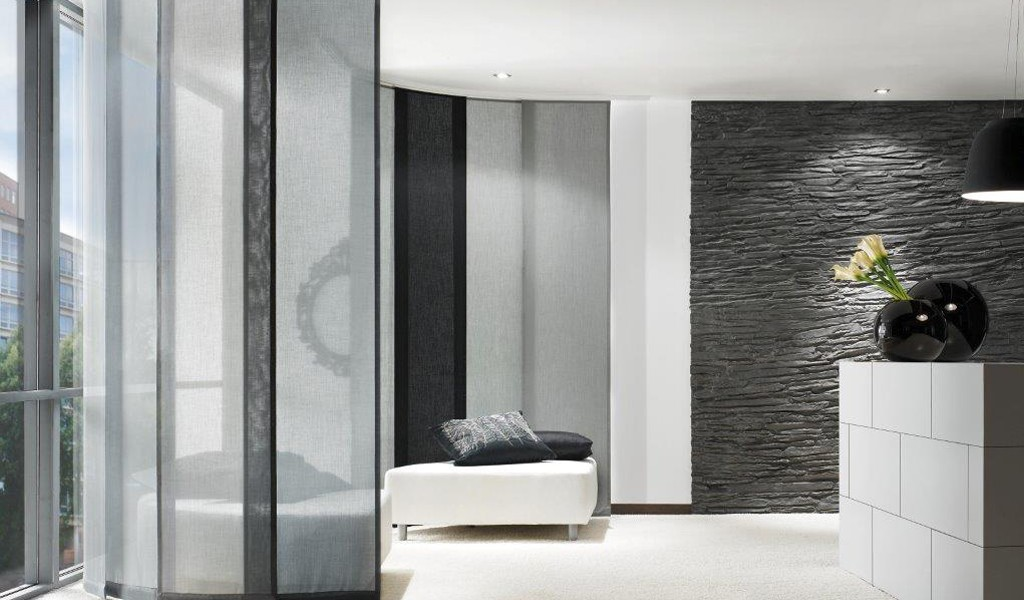 Contemporary fabric wall dividers