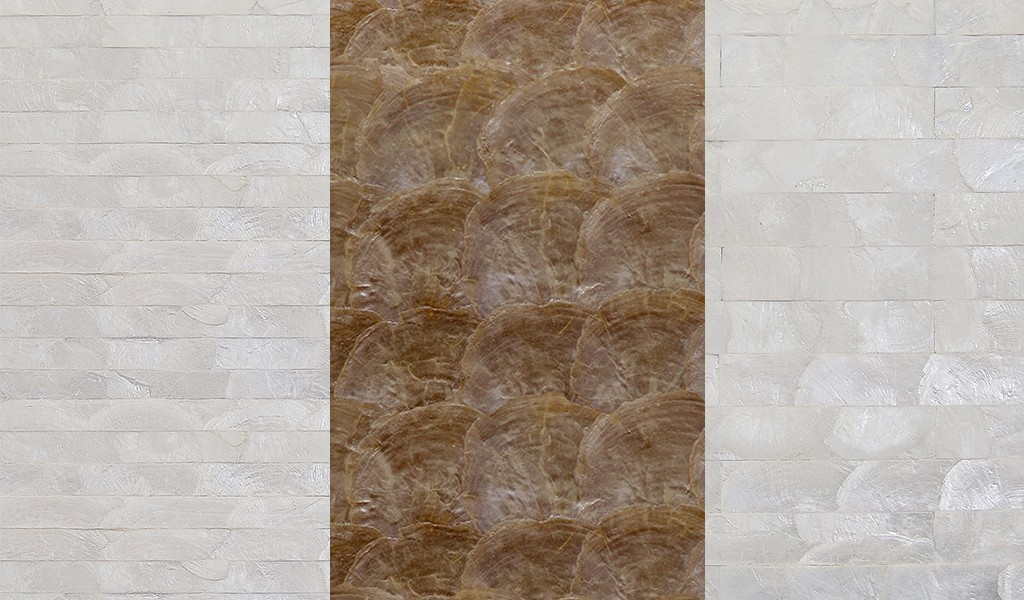 Natural mother of pearl wallcovering