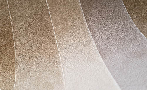 Faux suede wallcovering