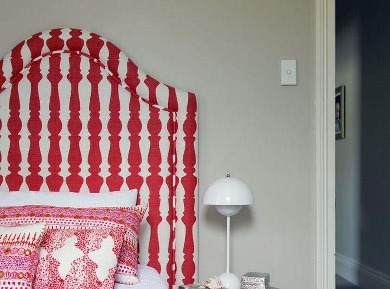 Matching headboard and pillow fabric