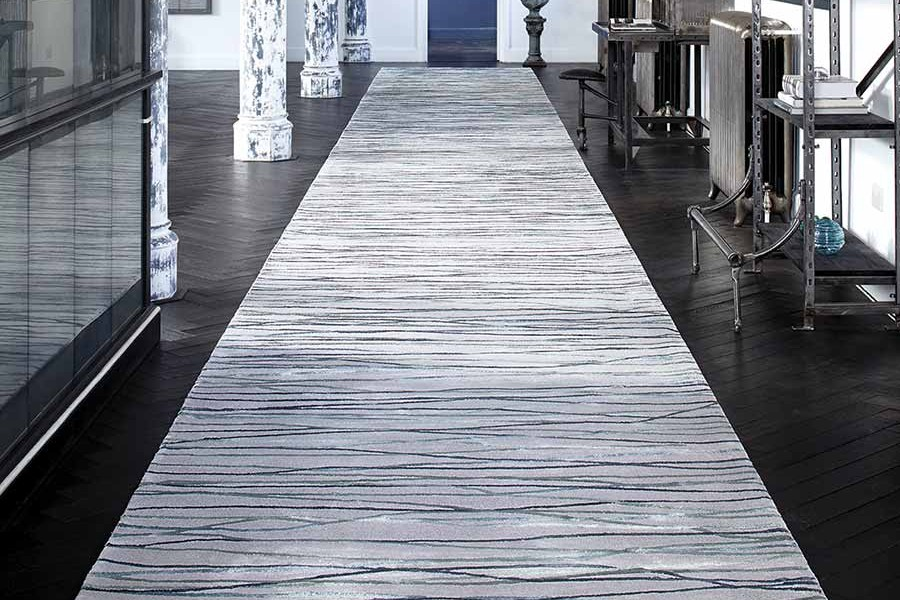 Crossover luxury ribbon rug
