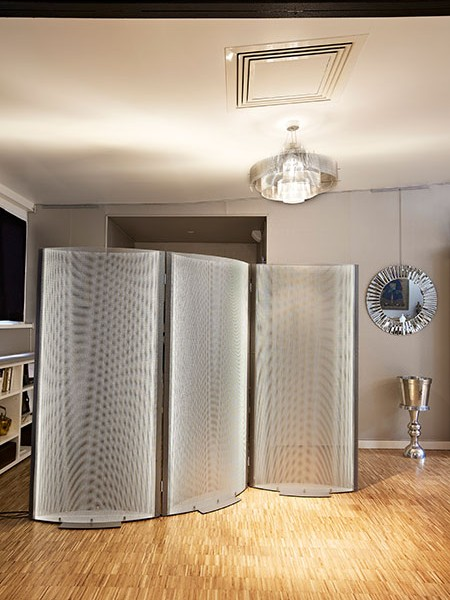 Stainless steel, brass or silver mirror screens