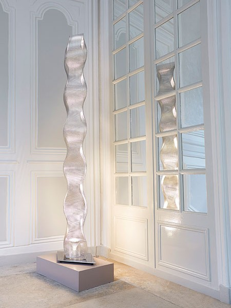 Contemporary wave floor light